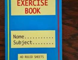Exercise Book 0.050 fils each