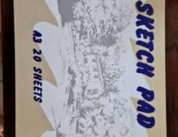 Sketch Pad a3 20 sheets   200 fils   Total...