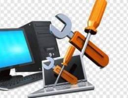 جميع أنواع خدمات إصلاح أجهزة الكمبيوتر وأج...
