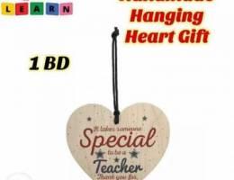 Handmade hanging heart gift