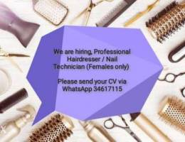 Professional Hairdresser / Nail Technician...