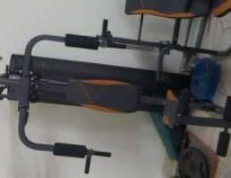 multiple exercise machnie 5 time used 100b...
