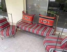 5 seater majlis wrought iron set
