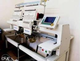 Two Head Computerized Embroidery machine f...