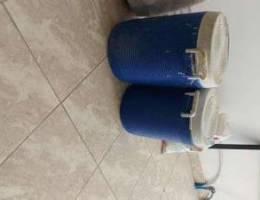 2 water cooler bottles