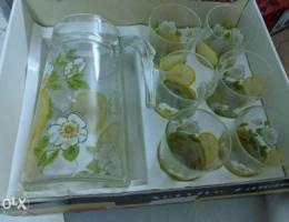 Luminarc 6 piece glass and jug set with tr...