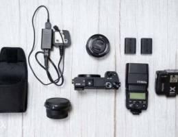 SONY A6300 , Lens, 2 Batteries, Mc-11 adap...