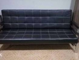 Leather sofa D/Bed
