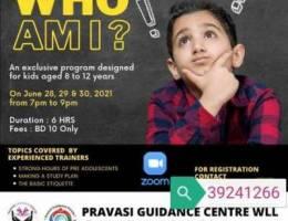 3 days workshop for kids
