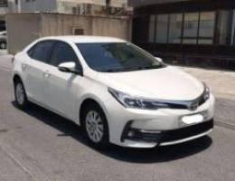 Toyota Corolla XLI 2018 (Pearl)